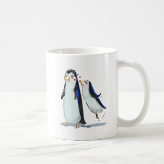 PeNgUiN KiSS Classic White Coffee Mug