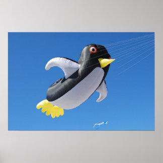Penguin Kite Posters
