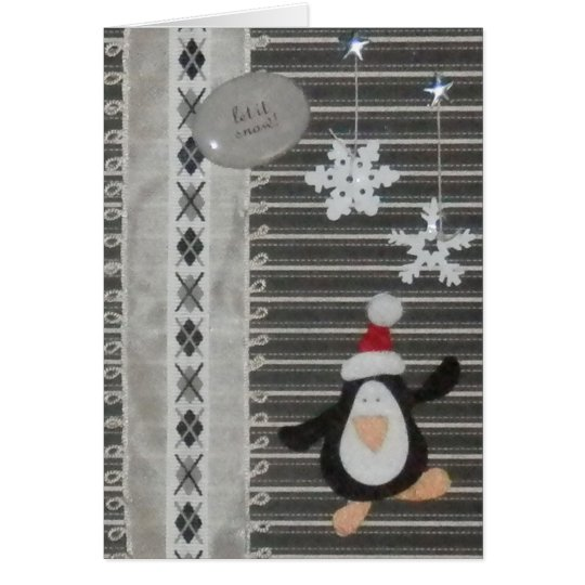 Penguin Let it Snow! Holiday Greeting Card Yule
