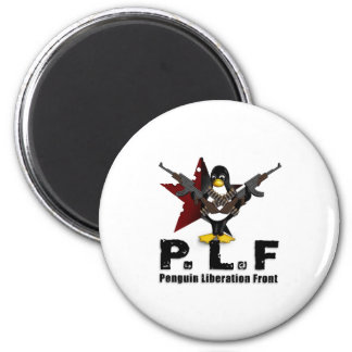 Penguin Liberation Front 2 Inch Round Magnet