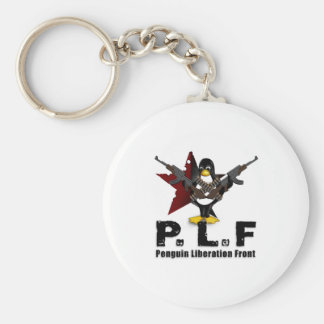 Penguin Liberation Front Basic Round Button Keychain