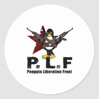 Penguin Liberation Front Round Stickers