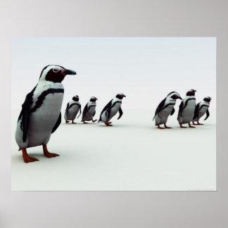 Penguin Line-Up Poster