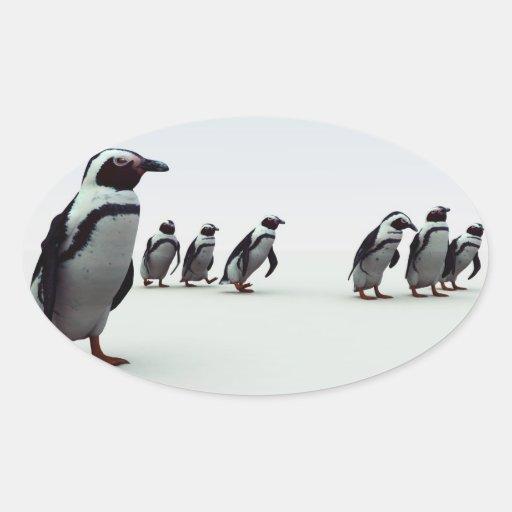 Penguin Line-up Sticker