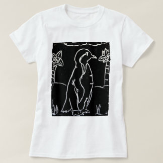 Penguin Lineart Print T-Shirt