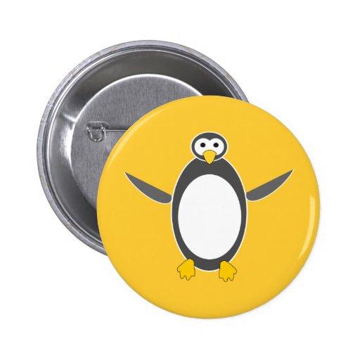 penguin linux  design 2 inch round button