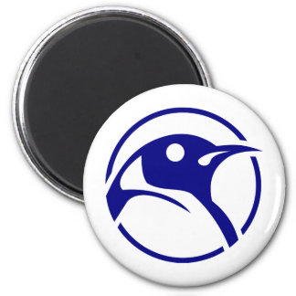 Penguin linux image 2 inch round magnet