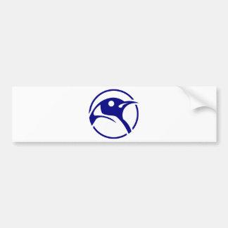 Penguin linux image car bumper sticker