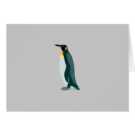 penguin linux image greeting card