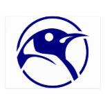 Penguin linux image post card