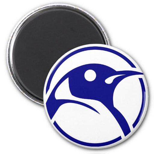 Penguin linux image refrigerator magnet