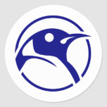 Penguin linux image sticker
