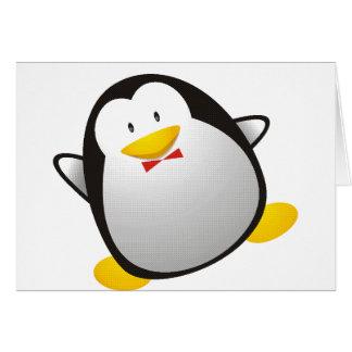 Penguin linux image tux card