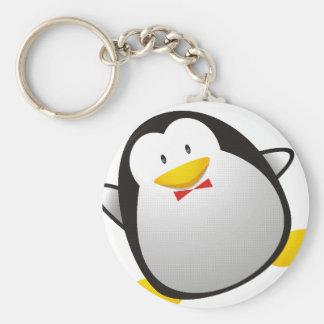 Penguin linux image tux keychain