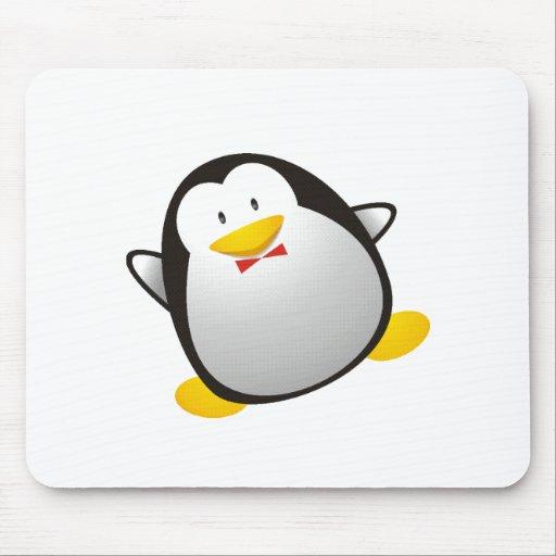 Penguin linux image tux mouse pad