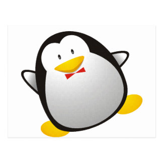 Penguin linux image tux postcard