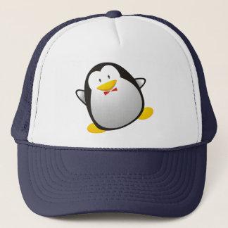 Penguin linux image tux trucker hat