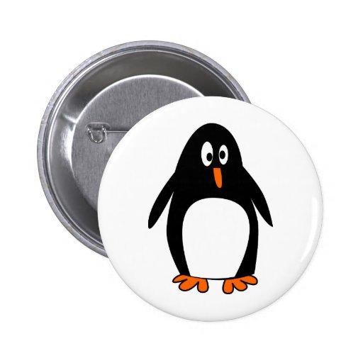 Penguin linux tux image 2 inch round button