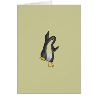 penguin linux tux image card