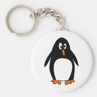Penguin linux tux image keychain