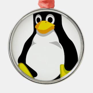Penguin Linux Tux Metal Ornament