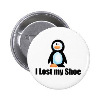 Penguin lost shoe copy 2 inch round button