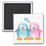 Penguin Love 2 Inch Square Magnet