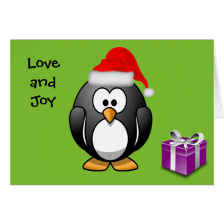 Penguin Love and Joy Greeting Card