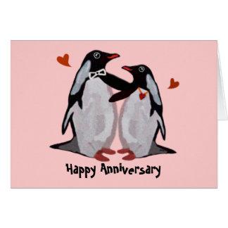 Penguin Love Anniversary Cards