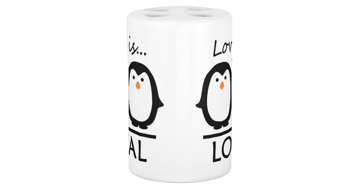 Penguin Love Bathroom Set Zazzle