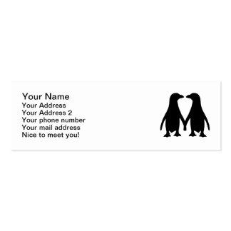 Penguin love business card