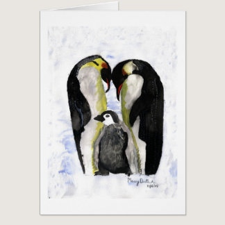 Penguin Love by Autistic Artist Marcy Deutsch Card
