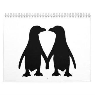 Penguin love calendar