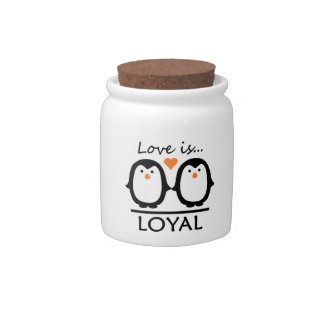 Penguin Love candy jars