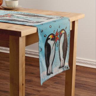 Penguin Love Christmas/Winter Table Runner