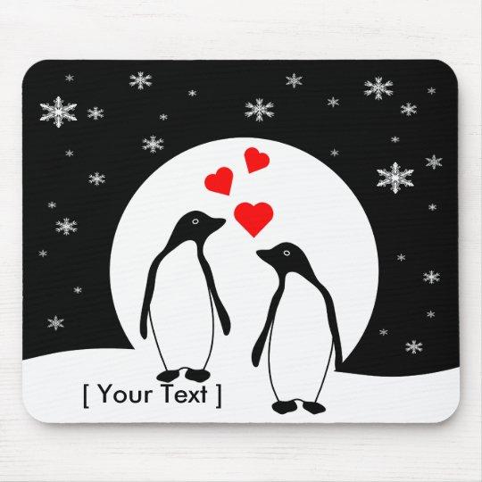 Penguin Love Couple Mousepad