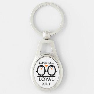 Penguin Love custom key chain