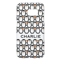 Penguin Love custom monogram phone cases