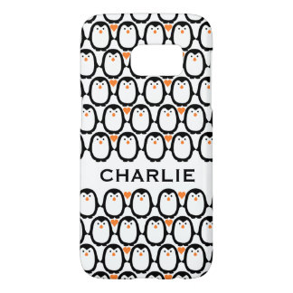 Penguin Love custom monogram phone cases