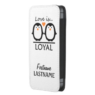 Penguin Love custom phone pouches iPhone 5 Pouch