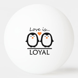 Penguin Love custom ping pong balls