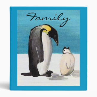 Penguin Love Family 3 Ring Binder