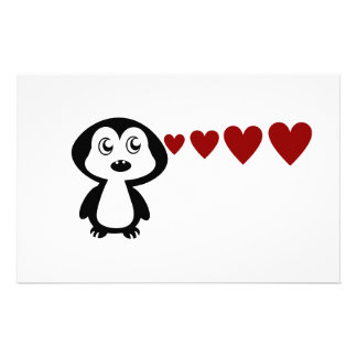 Penguin Love I Stationery