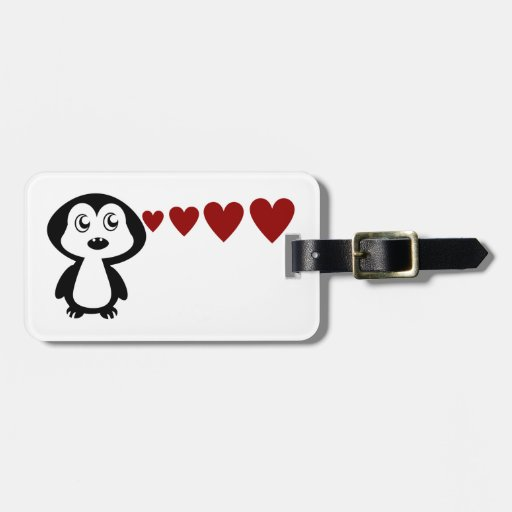 Penguin Love I Tag For Luggage