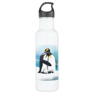 Penguin Love Kisses Stainless Steel Water Bottle