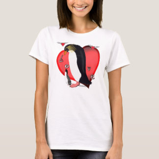 Penguin Love Ladies ComfortSoft T-Shirt