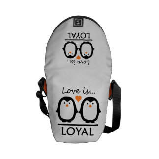 Penguin Love mini messenger bag