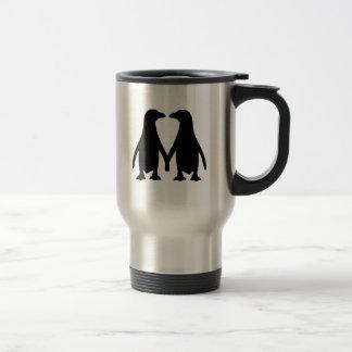 Penguin love mug