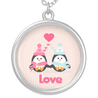 Penguin Love Custom Necklace