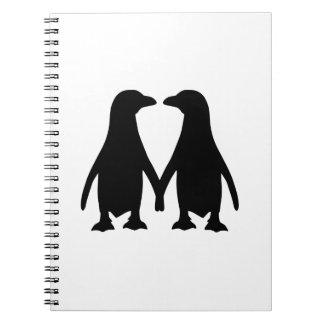 Penguin love notebook